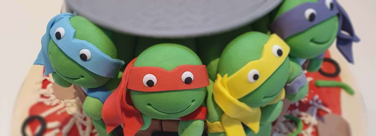 Teenage mutant ninja turtle celebration cake
