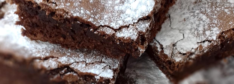 Chocolate brownie tower