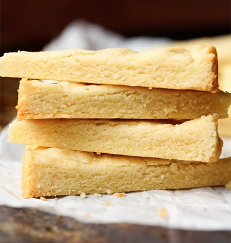 Orange shortbread slices